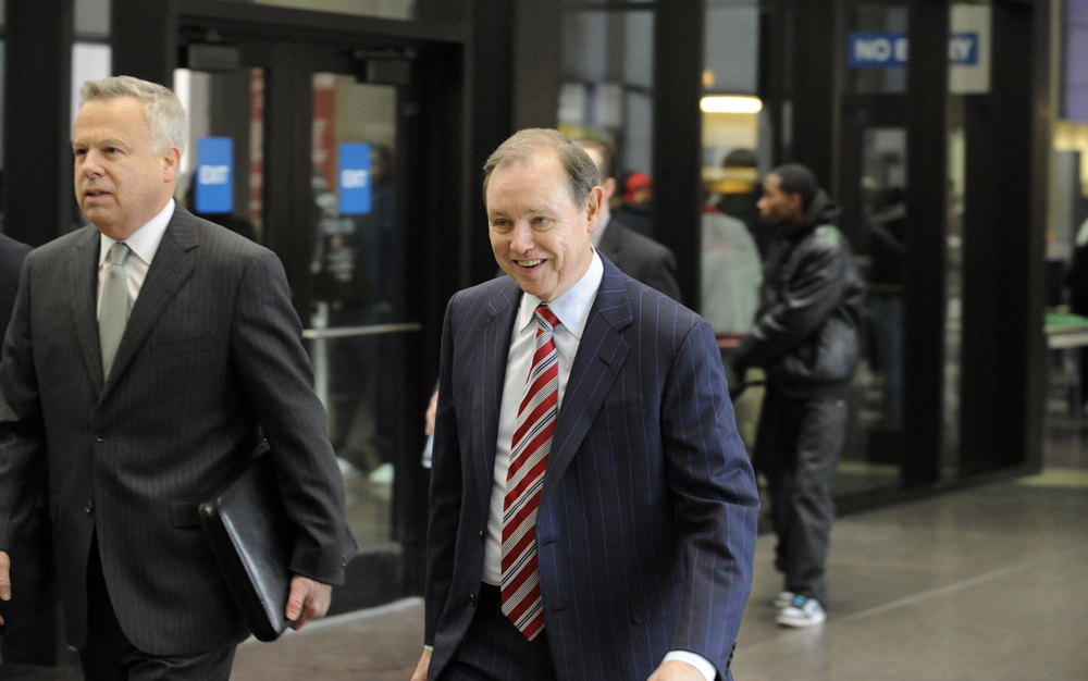 "Special prosecutor Dan K. Webb arrives at Leighton Criminal Courts Building for arraignment of Richard J. ""R.J."" Vanecko on involuntary manslaughters charges in death of David Koschman Monday, December 10, 2012. 