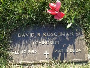 David Koschman's grave at Memorial Gardens Cemetery in Arlington Heights.  |  Sun-Times Media