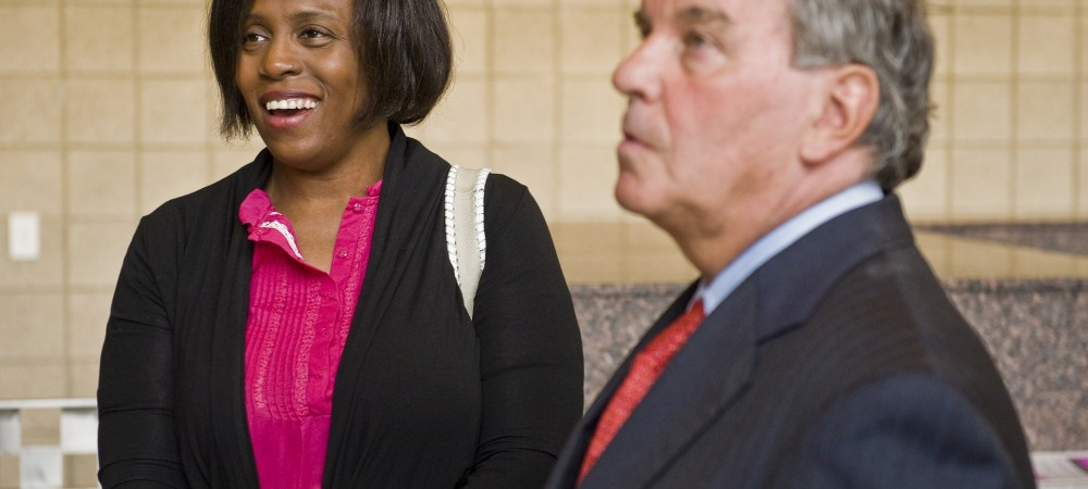 Then-Mayor Richard M. Daley with aide Jacquelyn Heard in 2010. Rich Hein Sun-Times file photo