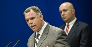Constantine 'Dean' Andrews, right, with then-Supt. Garry McCarthy. | Rich Hein~Sun-Times file photo