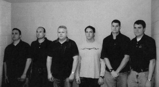 """Richard J. """"R.J."""" Vanecko (second from left) with Chicago Police officers in a May 20, 2004, lineup in the David Koschman case.  