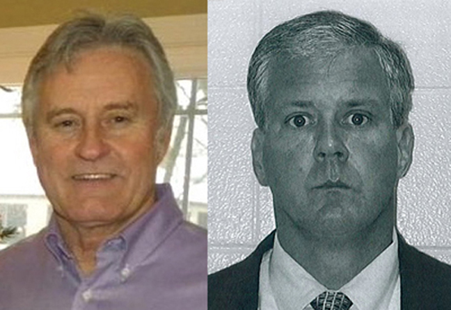 Ronald E. Yawger (left) via Facebook; Denis P. Walsh via Kalamazoo Township Police
