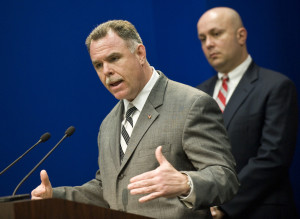"""Police Supt. Garry F. McCarthy, left, with Constantine """"Dean"""" Andrews in March 2012.   Rich Hein~Sun-Times file photo"""