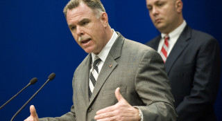 """Police Supt. Garry F. McCarthy, left, with Constantine """"Dean"""" Andrews in March 2012. 