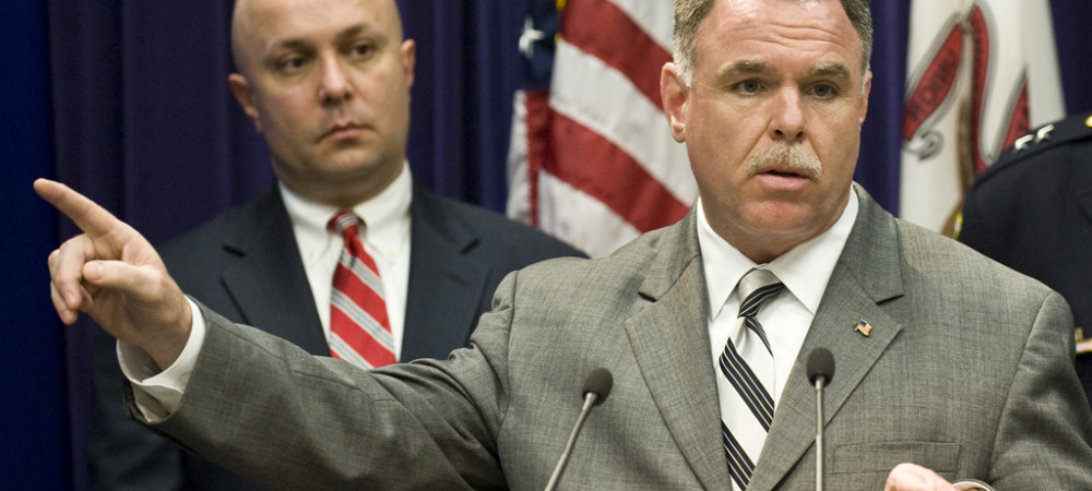 "Constantine ""Dean"" Andrews (left) with police Supt. Garry McCarthy in 2012. 