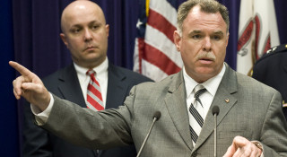 """Constantine """"Dean"""" Andrews (left) with police Supt. Garry McCarthy in 2012. 