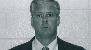 Mug shot of Lt. Denis P. Walsh following his arrest in August 2004 in Michigan on a felony charge of criminal sexual abuse. Kalamazoo Township police