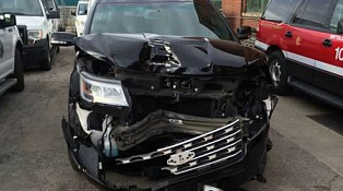 This is the city-owned vehicle that was driven by former Deputy Fire Commissioner John McNicholas at the time of a crash on Lake Shore Drive.